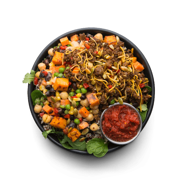 grass-fed beef taco hash